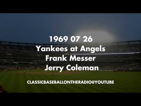 1969 07 26 Yankees at Angels Frank Messer Jerry Coleman
