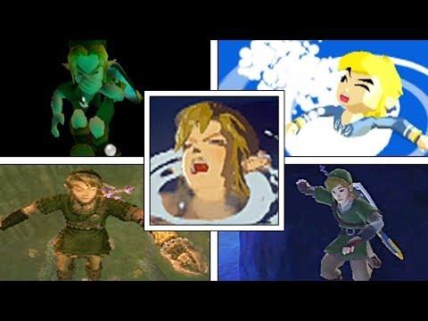 Evolution Of Link Drowning in 3D Legend of Zelda Games (1998-2017)