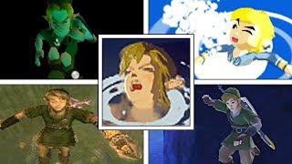 Evolution Of Link Drowning In 3D Legend Of Zelda Games (1998 2017)