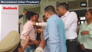 BJP Workers Manhandle Polling Officer In UP's Moradabad