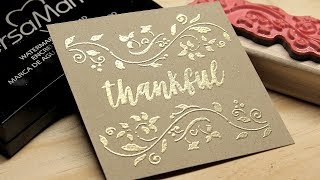 HOW TO EMBOSS! Easy DIY Embossing With VersaMark And Embossing Powder.