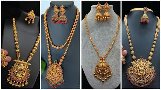 Latest Long Gold Necklace Designs    Long Gold Necklace    Gold Necklace Designs
