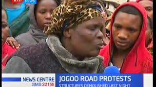 Traders along Jogoo Road protest demolition of stalls