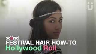 scünci Hollywood Roll - Festival Hair How-To