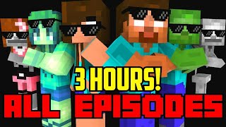 Monster School : All Episodes ! ( Season 1-7  ) - full Minecraft Animation