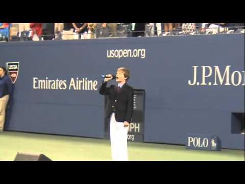 Josh King sings 'America the Beautiful' at 2013 US Open Tennis Championships
