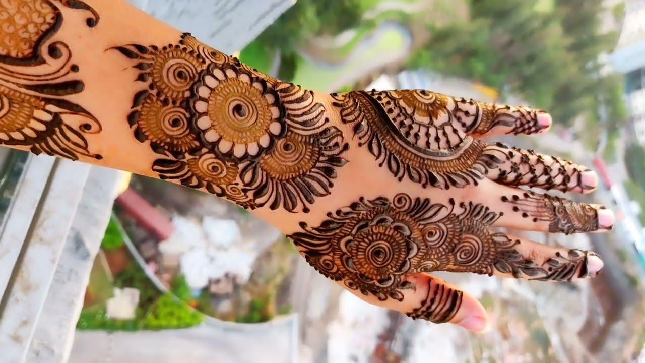 new bangle mehndi design by aaru mehndi