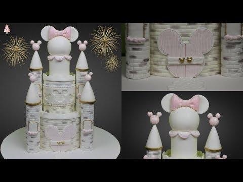 Disney Minnie Mouse Castle Cake Tutorial!