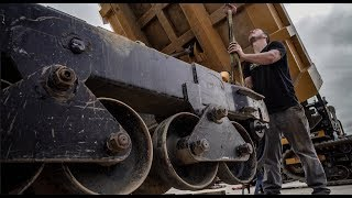 How to replace the rubber tracks on a morooka mst 3000 dumper!