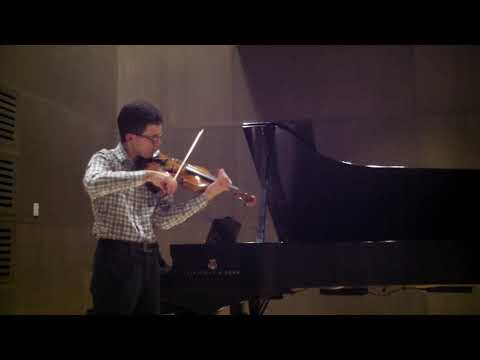 "Gabriel performs ""The Round of the Goblins"" by Antonio Bazzini.  Piano playing by Ken Osowski."
