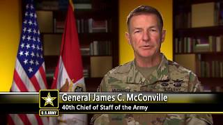 U.S. Army Chief of Staff General James C. McConville Addresses COVID-19