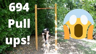 I did 694 pull ups for Belgian Independence Day!!