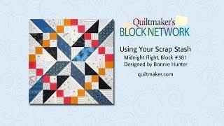 Using Your Scrap Stash: Bonnie Hunter Midnight Flight Quilt Block