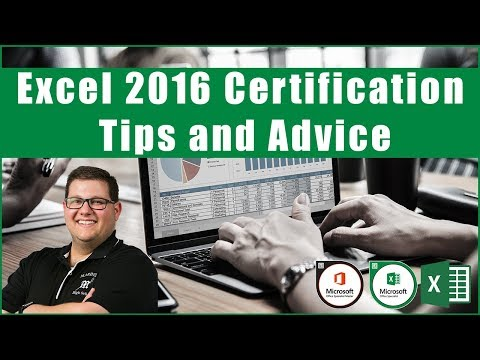 Excel 2016 Exam 77-727 - Certification Tips and Advice - YouTube