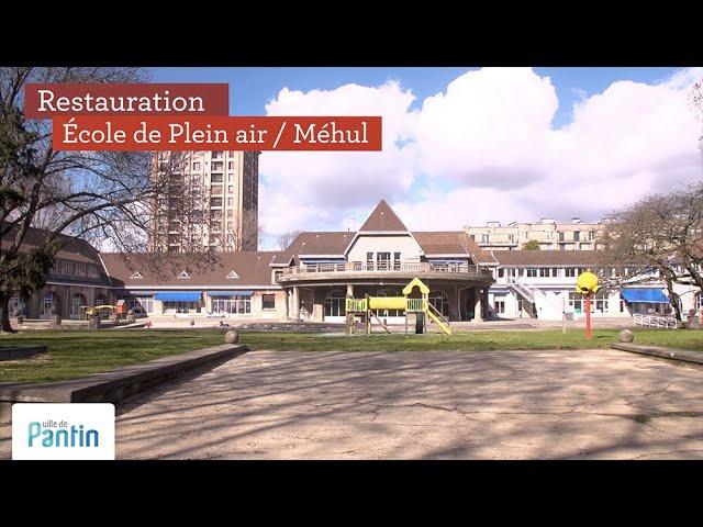 Restauration de l'école de plein air Méhul, 2019 © ville de Pantin