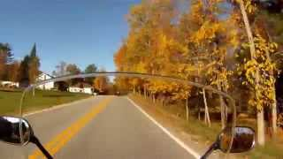 preview picture of video 'Yamaha TMax - Ride in the Gatineau Hills - Fall Colours'