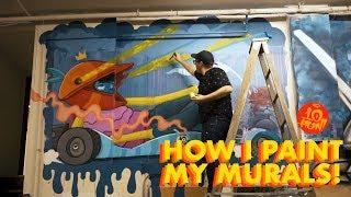 How I Paint Murals - Mural Tutorial Video