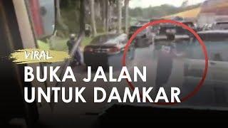 Viral Petugas Damkar Turun dan Lari-lari Buka Jalan agar Mobil Damkar Dapat Lewat