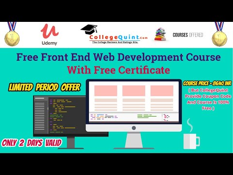 Front End Web Development Course With Free Certificate | Free ...