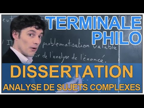 Dissertation 1ere es