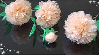 ペーパーフラワー簡単!芍薬の花の作り方DIYPaperFlowerEasy!Peony