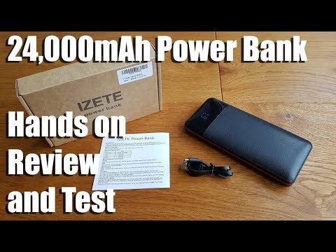 24,000mAh Power Bank with LCD and 2 USB Charging Ports by IZETE [Hands on Review and Test]