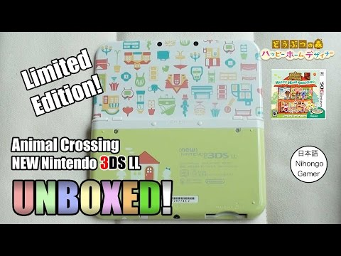 Animal Crossing Ltd. Edition New 3DS XL Console - World 1st UNBOXING