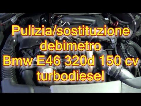 Tutorial pulizia sostituzione debimetro bmw e46 320d 150 cv