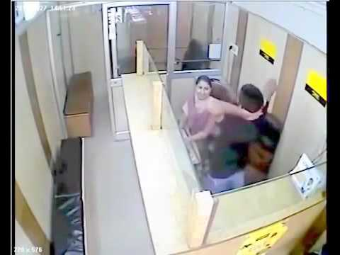 Bank employee CctV Footage **caught on camera**