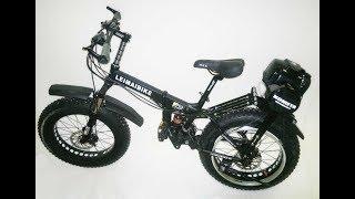 Складной Mini-Fat bike с колесами 20 дюймов и приводом на заднее колесо. от компании Интернет-магазин Мотосамокат - видео