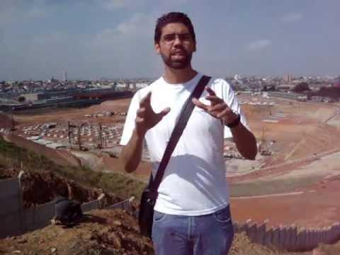 Torcedor faz vídeo do andamento das obras do estádio do Corinthians - Parte 1