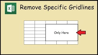 How to Remove Gridlines from Specific Cells in Excel