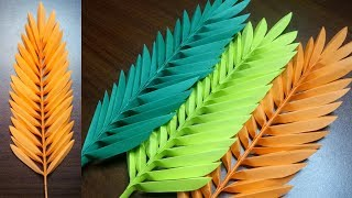 DIY PALM LEAVES EASY PAPER LEAVES MAKING FOR DECORATON