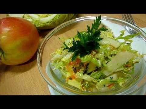 Салат из Капусты с Яблоком. Весенний Вкусный #салат из Свежей Капусты