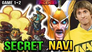 SECRET vs NAVI - SKYMAGE and TECHIES PICK - EPICENTER XL: Group Stage Game 1+2