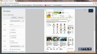 Drucken einer Webseite