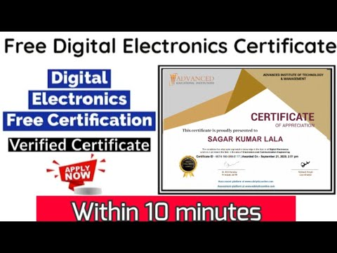 Free Digital Electronics course with verified Certificate - YouTube
