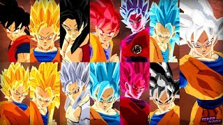 Goku DBS Costume All Transformations | Dragon Ball Z Budokai Tenkaichi 3