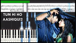 Tum Hi Ho (Aashiqui 2) || Piano Tutorial + Music Sheet + MIDI with Lyrics