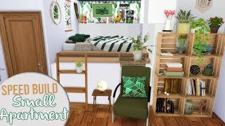 The Sims 4 Speed Build | SMALL COZY APARTMENT + CC Links