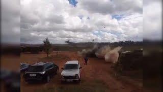 На учениях «Запад-2017» боевой вертолет случайно выпустил ракеты по зрителям