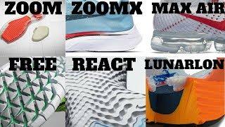 Nike Cushion Technologies Compared! AIR VS ZOOM VS LUNARLON VS FREE VS REACT VS ZOOMX