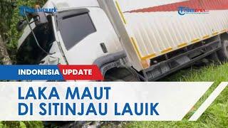 Ibu dan Anak Tewas dalam Kecelakaan Beruntun 7 Kendaraan di Padang, Motor Ringsek Tergencet Truk