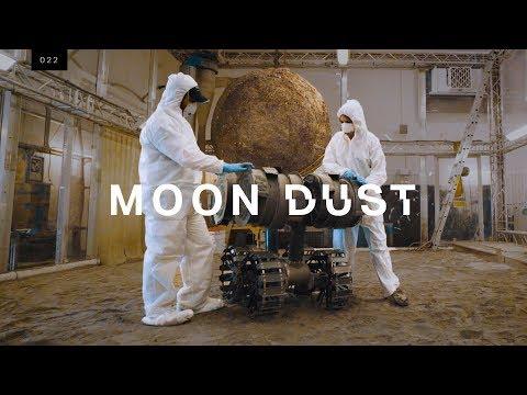 Stavba lunární základny z měsíčního prachu