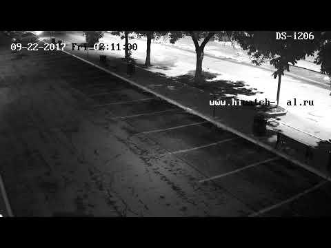 Пример изображения с камеры Hiwatch DS-i206 ночью