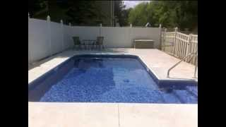 preview picture of video 'Swimming Pool Contractor - New concrete pool deck'