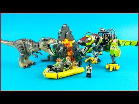 LEGO JURASSIC WORLD 75938 T -rex vs Dino Mech Battle Construction Toy   UNBOXING