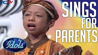 Boy Sings His Heart Out For Parents | Emotional Performance On Indonesian Idol Junior!