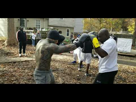 "MIGHTY MOUSE ""VS."" OX & SAVAGE( bare knuckle clinches)"