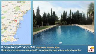 preview picture of video '3 dormitorios 2 baños Villa se Vende en Daya Nueva, Alicante, Spain'